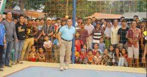 Pembukaan Open Turnamen Bola Volly KNPI CUP II di Way Kanan