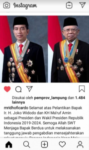 Posting Ucapan Selamat, Ini Kata Mantan Gubernur Lampung Ini