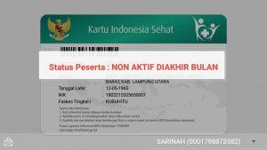 Warga Menjadi Korban , BPJS Gratis dari Pemerintah Lampung Utara sudah NON AKTIF