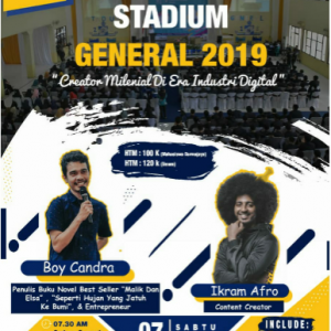 Stadium General, Mibat Darmajaya Hadirkan Penulis Best Seller dan Content Creator