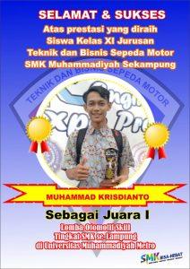Siswa SMKM Sekampung Juara 1 Lomba Otomotif Skill Tingkat SMK se-Lampung