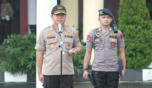 Berpamitan Dengan Personil, Rasa Haru Warnai Apel Pagi Kapolda Banten
