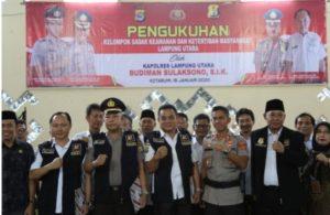 Kapolres Lampura AKBP Budiman Sulaksono Mengukuhkan 42 Anggota Pokdar Kamtibmas