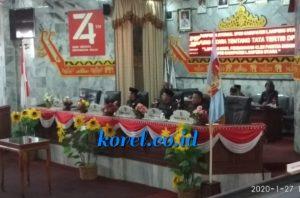 Ketua DPRD Lampura Pimpin Rapat Paripurna Internal dengan Agenda LHP Pansus