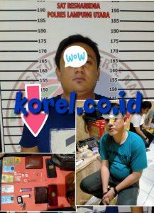 Penyalahgunaan Narkotika, 2 Oknum Polisi Di tangkap Polres Lampura