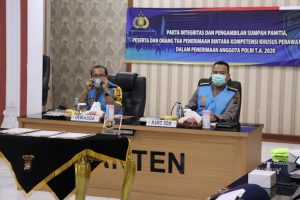 Polda Banten Gelar Penandatanganan Pakta Integritas Calon Bintara Kompetensi Khusus Perawat Dan Bidan