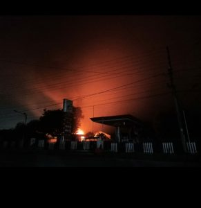 Kebakaran SPBU Baradatu , Terduga Tempat Penampungan Minyak Di Gudang Stasiun