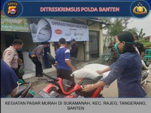 Tekan Harga Gula, Ditreskrimsus Polda Banten Kembali Gelar Operasi Pasar Murah
