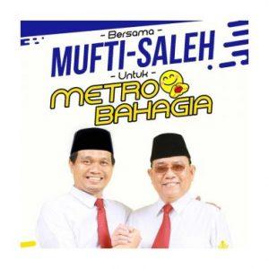 Polling Sementara Pilkada Kota Metro 2020, Paslon Kuda Hitam Mufti-Saleh Unggul