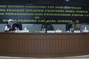 Panglima TNI dan Kapolri Pimpin Rapat Terkait Penanganan Covid-19 di Jawa Timur