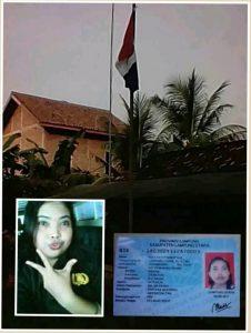 Wanita Pembakar Bendera Merah Putih Status KTP Bekerja Sebagai TNI Di Ciduk Polisi