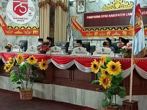 Paripurna DPRD Lampura , Terkait  Pemberhentian Bupati Lampung Utara