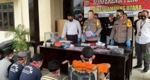 Polres Lampung Utara Dalam Kurun Waktu Satu Bulan Ungkap 38 Kasus Tindak Pidana