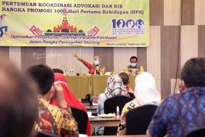 Pemprov Lampung Dalami Upaya Penurunan Angka Stunting Di Provinsi Lampung Tahun 2020