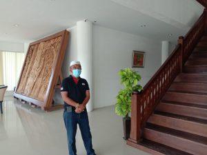 Sekwan DPRD Pesibar Terpapar Covid19 ,  Kantor DPRD Langsung dilakukan Penyemprotan Desinfektan