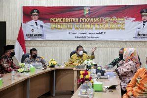 Gubernur Arinal Ikuti Rakor Secara Virtual Antisipasi Penyebaran Covid-19 Saat Libur Panjang