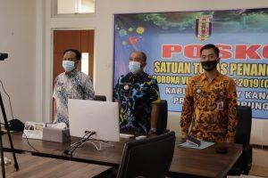 Pjs. Bupati Mulyadi Ikuti Penyerahan DIPA dan TKDD Provinsi Lampung Tahun 2021 Melalui Virtual
