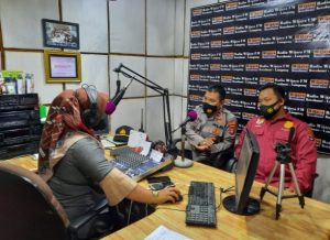 Rekrutmen Proaktif Calon Anggota Polri, Polres Lampung Utara Sosialisasi Melalui Radio