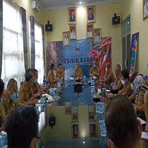 Pjs Bupati Diwakili Sekda Pesibar , Mengikuti Rapat Pembahasan Regulasi Penyusunan APBD Tahun 2021