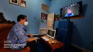 Achmad Gantha Ikuti Rakoor Kadis Kominfo Se-Provinsi Lampung Via Virtual