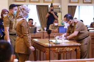 Pemprov Lampung Gelar Penandatanganan Perjanjian Kinerja Tahun 2021 Pejabat Pimpinan Tinggi