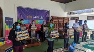 GP Ansor Lampung Gandeng Aice Group Distribusikan 150 ribu Masker