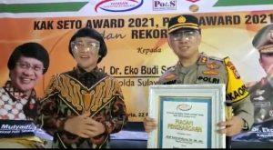 Kapolres Pulang Pisau Terima Penghargaan Kak Seto Award 2021
