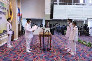 Agus Istiqlal-Zulqoini Resmi Jabat Bupati Dan Wakil Bupati Pesisir Barat