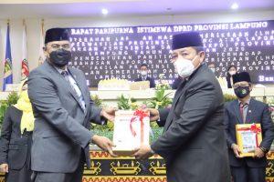 Pemprov Lampung Raih Opini WTP dari BPK RI 7 Kali Berturut-turut