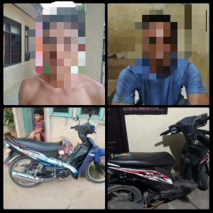 Dua Pelaku Curat Sepeda Motor di Ringkus Polsek Kotabumi Utara