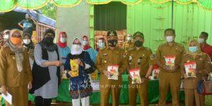 Pemprov Lampung Gelar Pasar Murah Bersubsidi di Desa Harapan Jaya