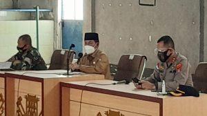 Bupati Lampung Utara Budi Utomo , Pimpin Rakor Bersama Forkopimda Kotabumi