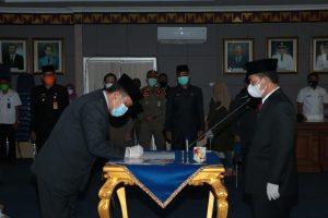 Bupati Lampung Utara Melantik Tiga Pejabat Pimpinan Tertinggi