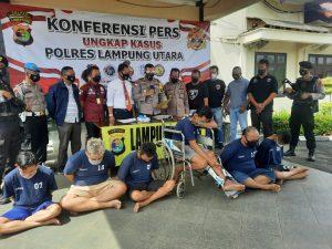 Polres Lampung Utara Ringkus Pelaku 3C Lintas Provinsi, 3 Diantaranya Diberi Timah Panas