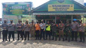 Waka.Polda Lampung Kunjungi Pos Pengamanan Ops Ketupat Krakatau 2021 Lampung Utara