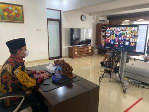 Halal Bihalal Virtual Pimpinan K/L, Wamenkumham Sampaikan Remisi Idul Fitri