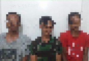 Tim Srigala Utara Polsek Sungkai Utara Ringkus Tiga Pelaku Pencurian Kelapa Sawit
