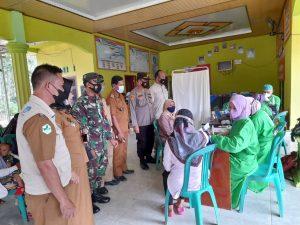 Hut Bhayangkara Ke-75, Polres Tubaba Lanjutkan Vaksinasi Massal