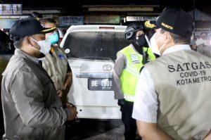 Pemerintah Kota Metro Melakukan Operasi Yustisi Dalam Rangka PPKM Diperketat