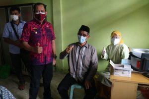 Wabup Syafi'i Pastikan Vaksinasi Bagi Pendidik Kabupaten Tanggamus Berjalan Baik dan Lancar
