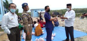 Bupati Hi. Saply,TH Potong Dua Hewan Kurban di Lingkup Pemda Mesuji