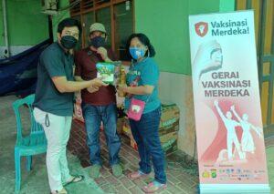 Vaksinasi Merdeka, Polsek Tanjung Duren Sediakan Sembako Gratis Dorong Masyarakat Mau Divaksinasi