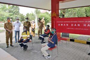 Gubernur Arinal Apresiasi Pelaksanaan Vaksinasi Covid-19 Gotong Royong oleh Coca Cola Europacific Partners Indonesia Lampung