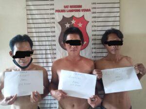 TEKAB 308 Sat Reskrim Polres Lampung Utara Ringkus Tiga Orang Pelaku Judi