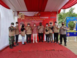 Personel Ditpamobvit Polda Banten Lakukan Pengamanan Vaksinasi Presisi di PLTU Jawa 7