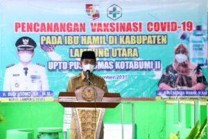 Pemkab Lampung Utara Gelar Vaksin Pada Ibu Hamil Guna Pencegahan Covid-19