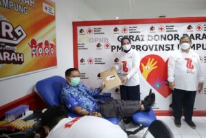 Ibu Riana Resmikan Gerai Donor Darah dan Siger Donor Darah di Markas PMI Provinsi Lampung