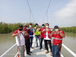 Dinas PUPR Tuba Tinjau Selesainya Renovasi Jembatan Gantung Kampung Sungai Burung